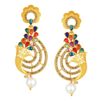 SUKKHI | Sukkhi Fabulous Multi-color Gold Plated Earring SJ6115EN