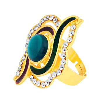 SUKKHI | Sukkhi ShoStopper Fancy Designer Gold Plated Ring SJ8001R