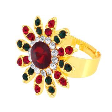 SUKKHI   Sukkhi ShoStopper Dazzling Designer Gold Plated Ring SJ8004R