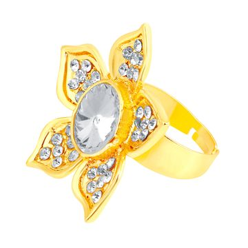 SUKKHI   Sukkhi ShoStopper Cluster Designer Gold Plated Ring SJ8005R
