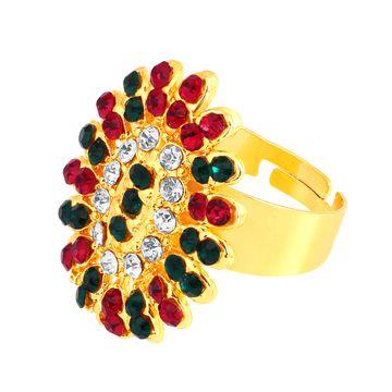 SUKKHI | Sukkhi ShoStopper Floral Designer Gold Plated Ring SJ8007R