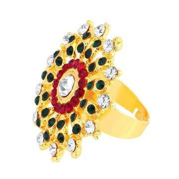 SUKKHI   Sukkhi ShoStopper Delightful Designer Gold Plated Ring SJ8008R