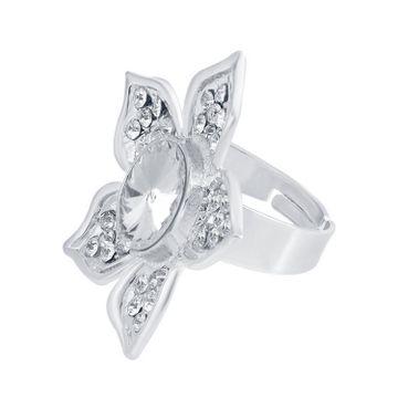 SUKKHI | Sukkhi ShoStopper Ritzzy Designer Rhodium Plated Ring SJ8013R