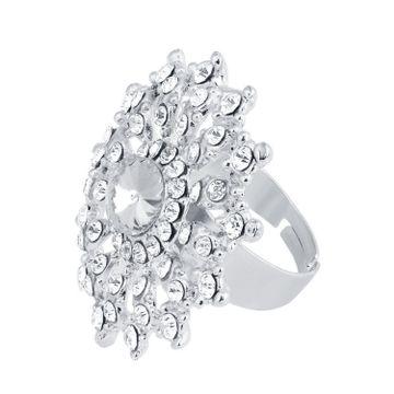 SUKKHI | Sukkhi ShoStopper Ravishing Designer Rhodium Plated Ring SJ8014R