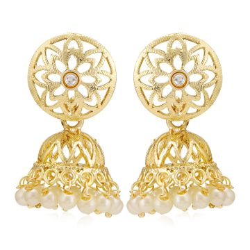 SUKKHI | Sukkhi Excellent Kundan Gold Plated Pearl Jhumki Earring for Women