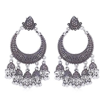 SUKKHI | Sukkhi Stunning Oxidised Chandelier Earring for Women