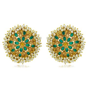 SUKKHI | Sukkhi Adorable Gold Plated LCT & Pearl Stud Earring for Women