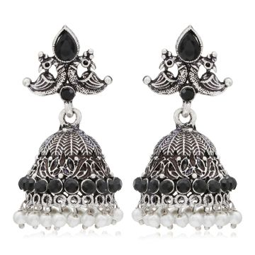 SUKKHI | Sukkhi Incredible Oxidised Peacock Jhumki Earring for Women