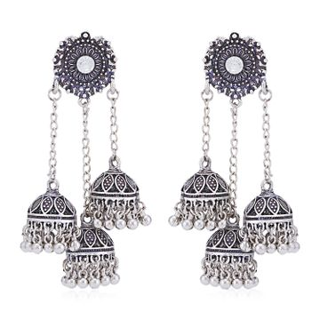 SUKKHI | Sukkhi Alluring Oxidised Chandelier Earring for Women