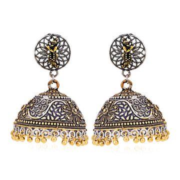 SUKKHI | Sukkhi Marvellous Oxidised God Krishna Jhumki Earring for Women