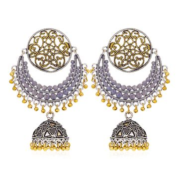 SUKKHI | Sukkhi Charming Oxidised Chandelier Earring for Women