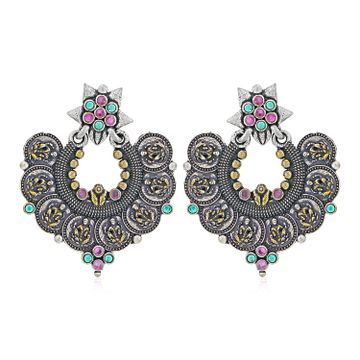 SUKKHI | Sukkhi Graceful Oxidised Chandbali Earring for Women