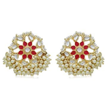 SUKKHI | Sukkhi Trendy Gold Plated Kundan & Pearl Stud Earring for Women