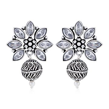 SUKKHI | Sukkhi Dazzling Oxidised Austrian Diamond Dangle Earring for Women