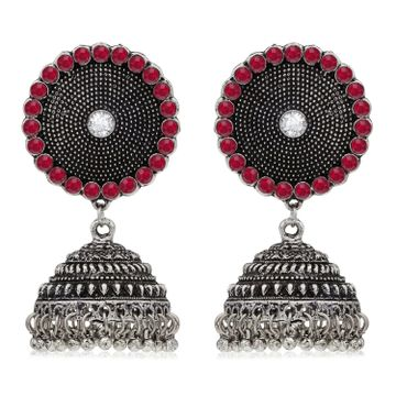 SUKKHI | Sukkhi Ritzy Oxidised Pearl Jhumki Earring for Women