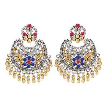 SUKKHI | Sukkhi Glamorous Oxidised Peacock Chandbali Earring for Women