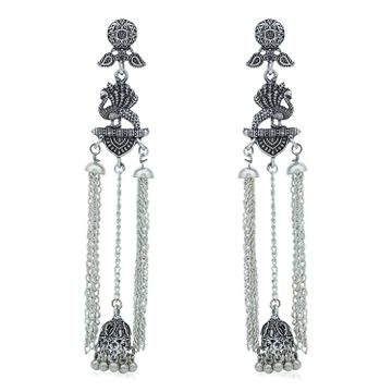 SUKKHI | Sukkhi Marvellous Oxidised Peacock Chandelier Earring For Women