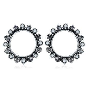 SUKKHI | Sukkhi Exotic Oxidised Floral Stud Earring For Women