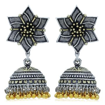 SUKKHI | Sukkhi Floral Oxidised Jhumki Earring For Women