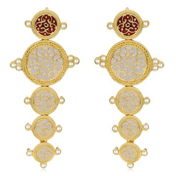 SUKKHI | Sukkhi Classy Gold Plated Kundan Meenakari Dangle Earring For Women