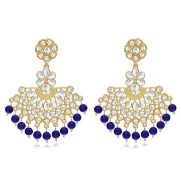 SUKKHI | Sukkhi Delightful Gold Plated Kundan Chandbali Earring For Women