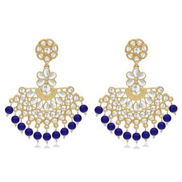 SUKKHI | Sukkhi Delightful Gold Plated Kundan Chandbali Earring For Women