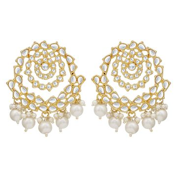 SUKKHI | Sukkhi Splendid Pearl Gold Plated Kundan Dangle Earring For Women