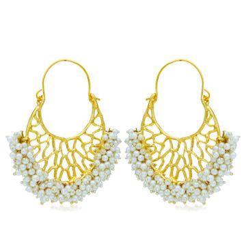 SUKKHI | Sukkhi Modish Gold Plated Pearl Chandbali Earring For Women