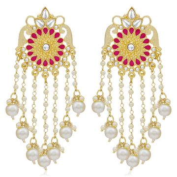 SUKKHI | Sukkhi Modern Kundan Gold Plated Pearl Dangle Earring For Women
