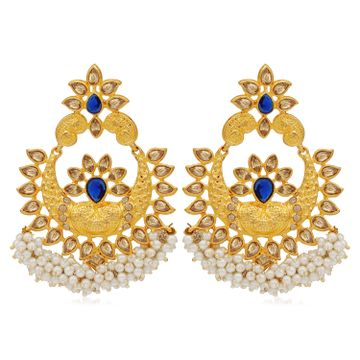 SUKKHI | Sukkhi Blemish LCT Gold Plated Pearl Chandbali Earring For Women
