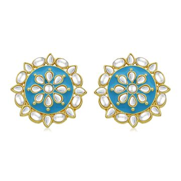 SUKKHI | Sukkhi Charming Gold Plated Kundan Stud Earring for Women