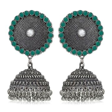 SUKKHI | Sukkhi Trendy Austrian Diamond Oxidised Jhumki Earring for Women