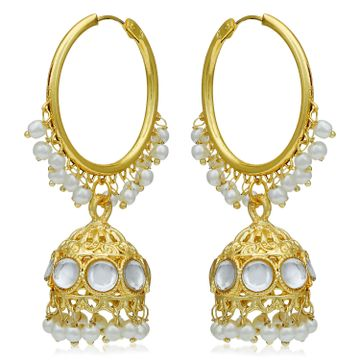 SUKKHI | Sukkhi Sparkling Gold Plated Pearl Jhumki Earring for Women
