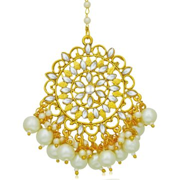 SUKKHI | Sukkhi Glorious Pearl Gold Plated Kundan Maangtikka for Women
