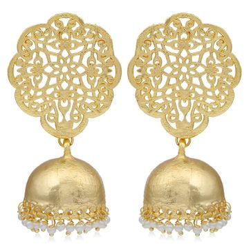 SUKKHI | Sukkhi Equisite Gold Plated Pearl Jhumki Earring For Women