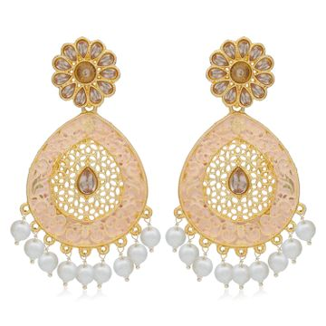 SUKKHI | Sukkhi Dazzling LCT Gold Plated Mint Collection Pearl Dangle Earring For Women
