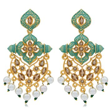 SUKKHI | Sukkhi Glorious LCT Gold Plated Mint Collection Pearl Dangle Earring For Women