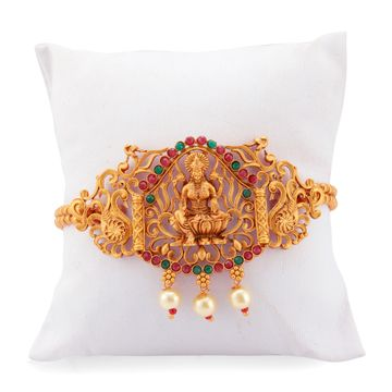 SUKKHI | Sukkhi Artistically Pearl Gold Plated Goddess Laxmi Bajuband For Women