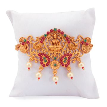 SUKKHI | Sukkhi Ravishing Pearl Gold Plated Goddess Laxmi Bajuband for Women