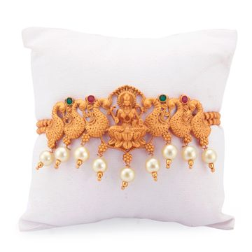 SUKKHI | Sukkhi Gorgeous Pearl Gold Plated Goddess Laxmi Bajuband for Women