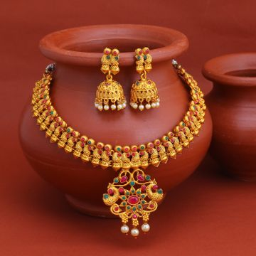 SUKKHI | Sukkhi Exclusive Gold Plated Pearl Collar Necklace Set for Women