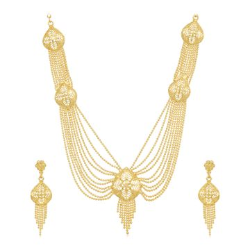 SUKKHI | Sukkhi Gleaming 24 Carat Gold Plated Multi-String Necklace Set for Women