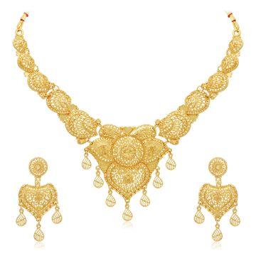 SUKKHI | Sukkhi Exclusive 24 Carat Gold Plated Choker Necklace Set for Women