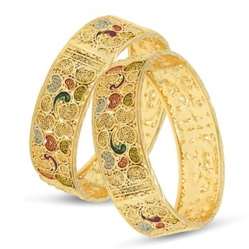 SUKKHI | Sukkhi Glorious 24 Carat Gold Plated Meenakari Bangle Set for Women