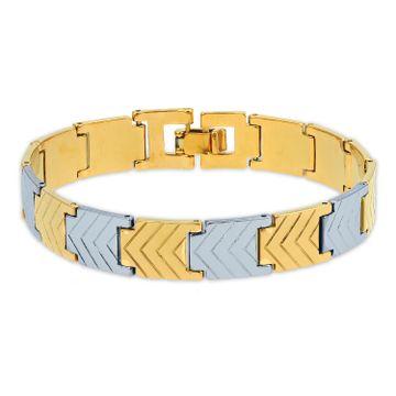 SUKKHI | Sukkhi Charming Gold & Rhodium Plated Bracelet for Men