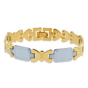 SUKKHI | Sukkhi Stylish Gold & Rhodium Plated Bracelet for Men