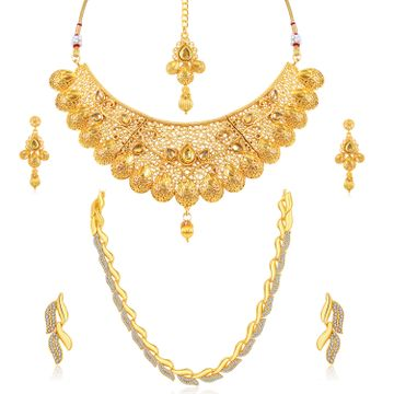 SUKKHI | Sukkhi Elegant LCT Gold Plated Austrain Diamond Combo of 2 Necklace Set for Women