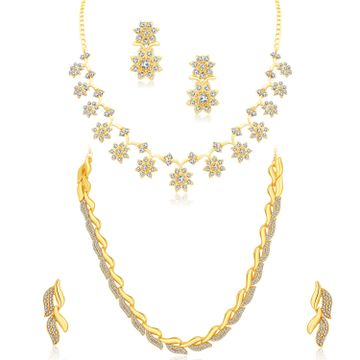 SUKKHI | Sukkhi Exclusive Gold Plated Austrain Diamond Combo of 2 Necklace Set for Women