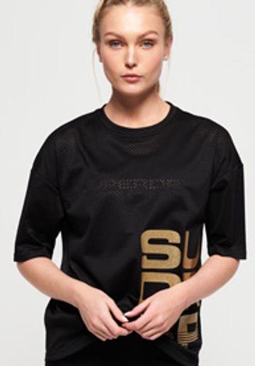 Superdry   Superdry Black & Gold T-Shirts
