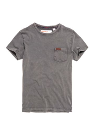 Superdry | Superdry La Pkt Dove Grey Solid T-Shirt